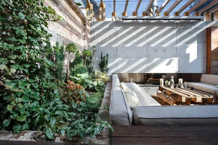 sala estar exterior plantas moderna