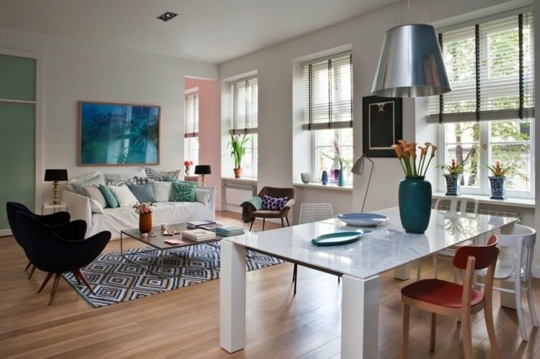 Salon decoracion moderna que marca la diferencia - Decoracion alfombras salon ...