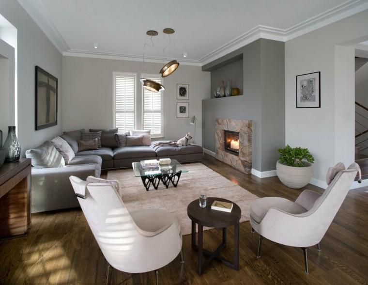 Salon decoracion moderna que marca la diferencia - Decoracion chimeneas salon ...