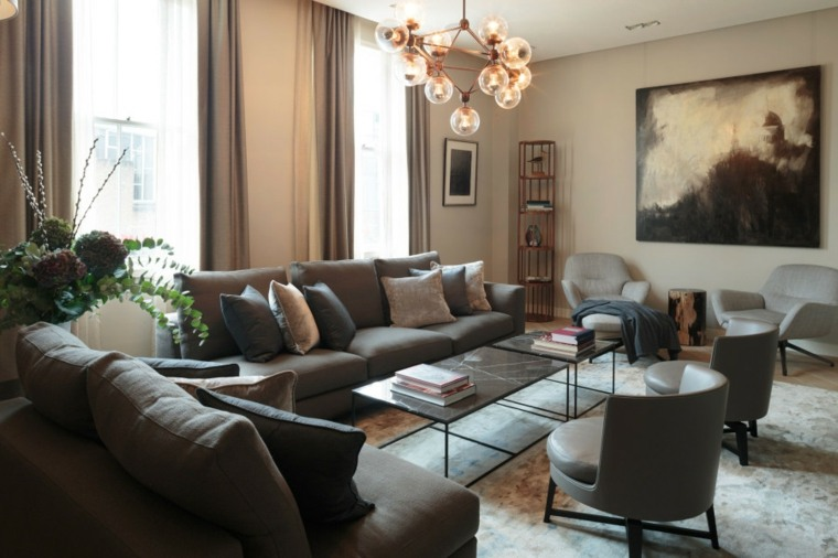 Salon decoracion moderna que marca la diferencia - Decoracion moderna salon ...