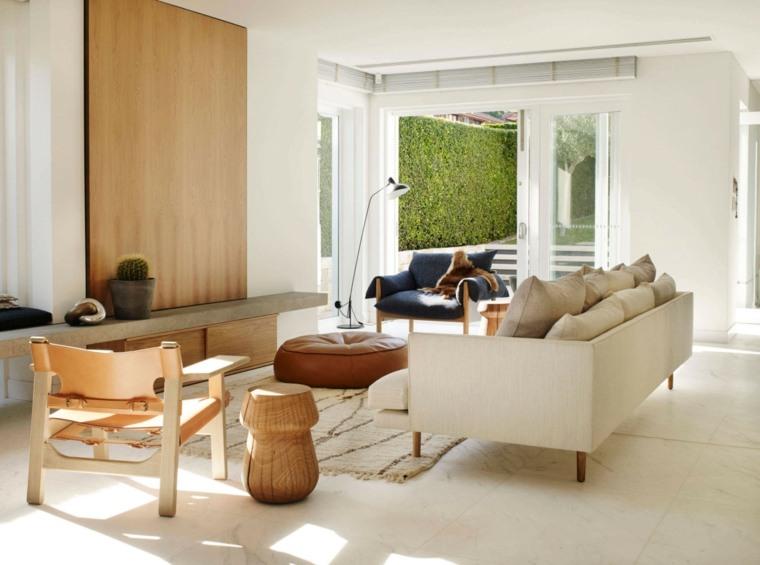 salones decoracion moderna detalles madera ideas