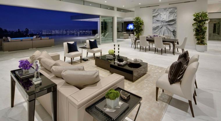salones decoracion moderna espacios amplios ideas