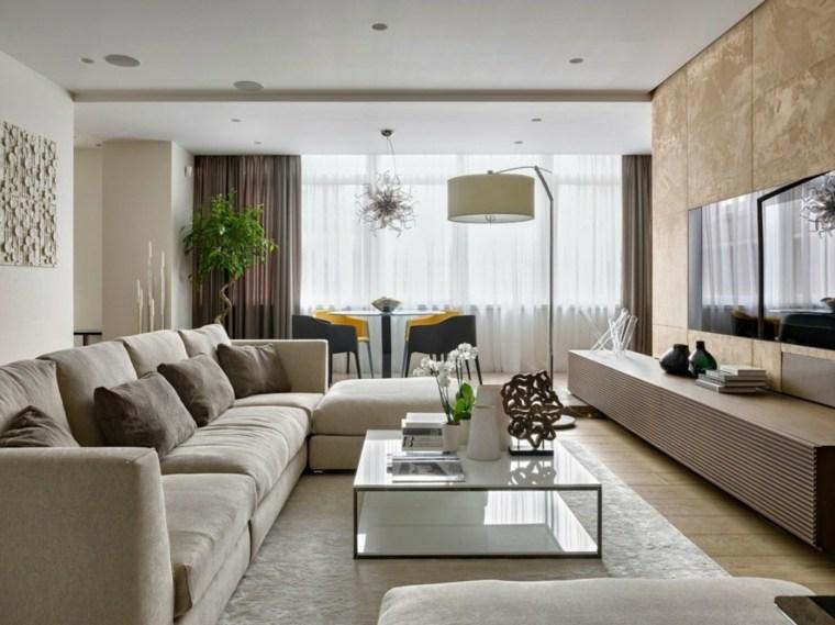 salones decoracion moderna lampara pie ideas