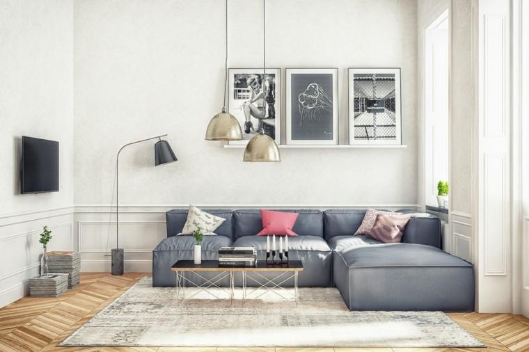 salones decoracion moderna lamparas preciosas ideas