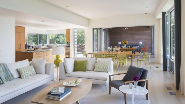 salones decoracion moderna muebles blancos ideas