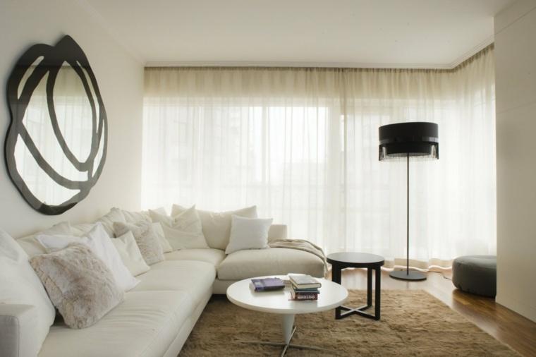 salones decoracion moderna pared lampara ideas
