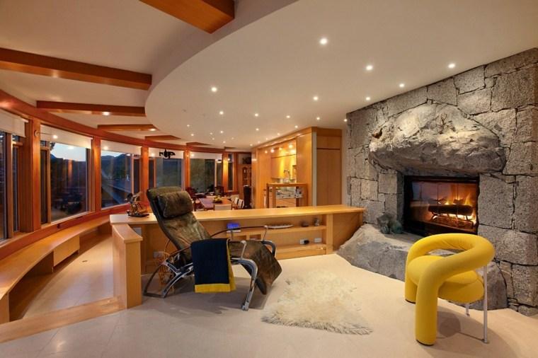 salones decoracion moderna sillon amarillo ideas