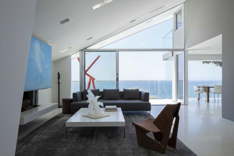 salon decoracion moderna sillon madera ideas