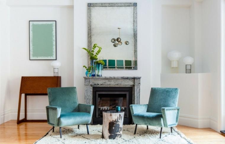 salones decoracion moderna sillones terciopelo ideas