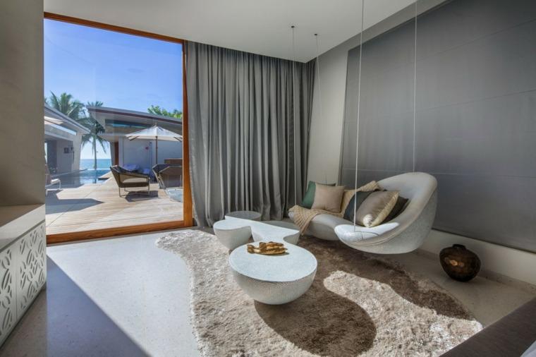 salones decoracion moderna sofa colgando techo ideas