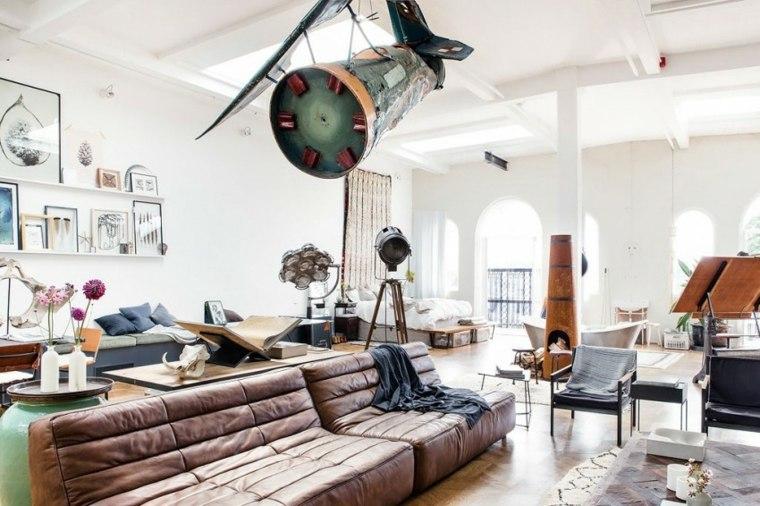 salon dormitorio mesas sillas un mismo espacio ideas