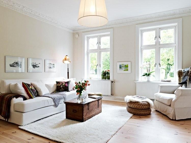 salon estilo moderno pequeño nordico