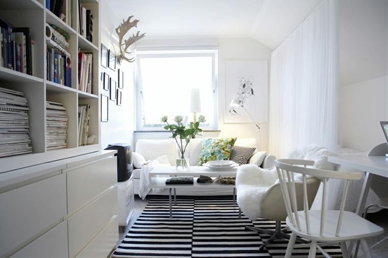 salon pequeño decoracion nordica