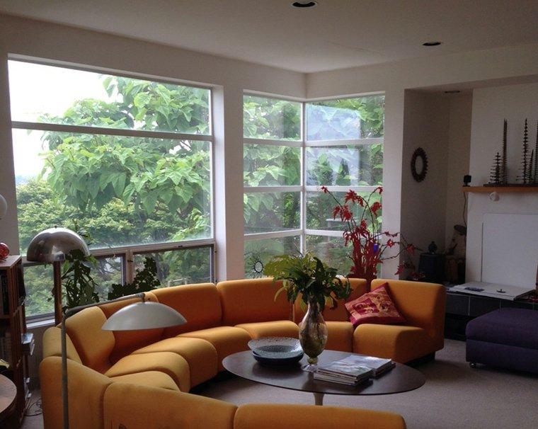 salon pequeño sofa redondo