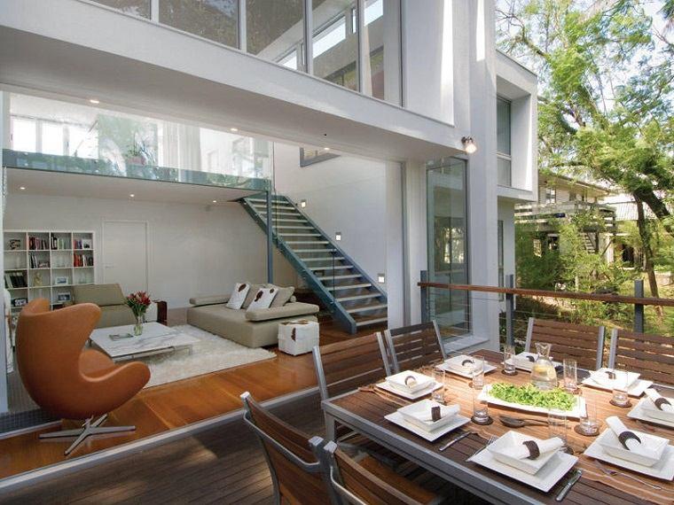 salon terraza muebles diseño moderno