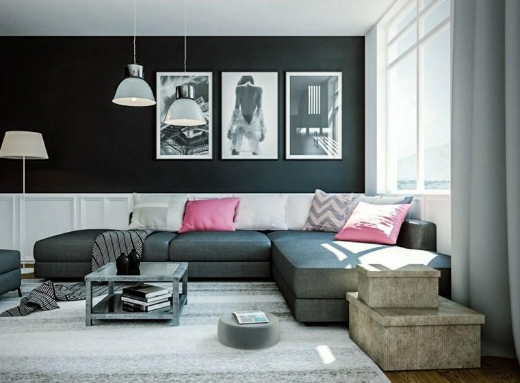 salones clasicos modernos distintos disenos blanco rosa ideas