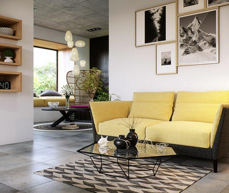 salon clasico moderno distintos disenos mesa cristal ideas