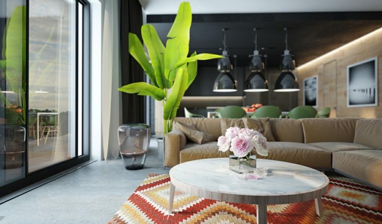 salones modernos distintos disenos mesa preciosa plantas ideas