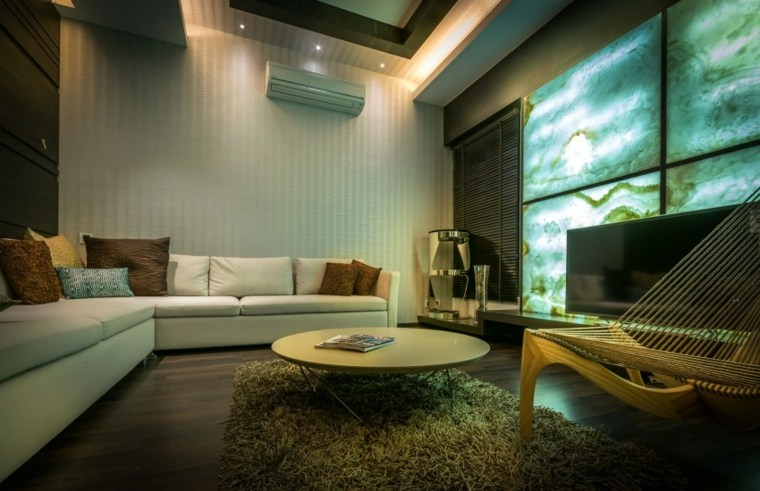 salones modernos distintos disenos mesa redonda ideas