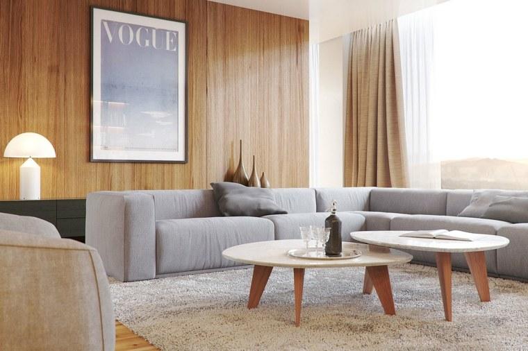 salones modernos distintos disenos mesitas madera ideas