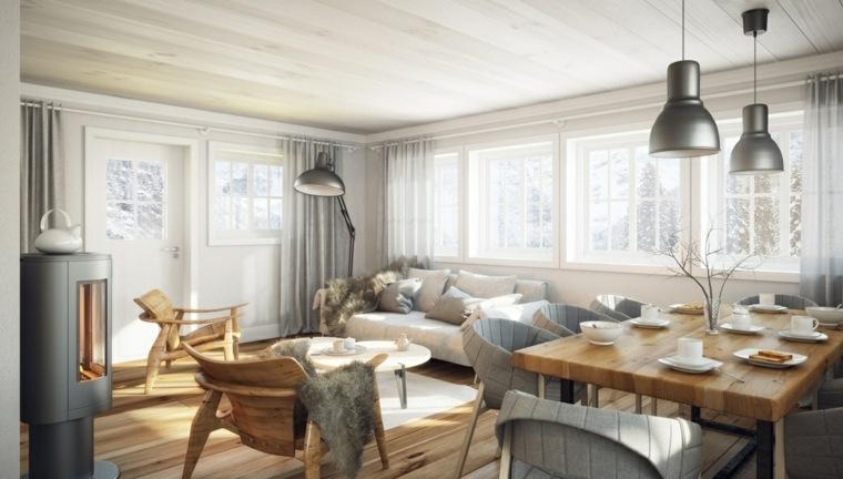 salones modernos distintos disenos muebles madera ideas