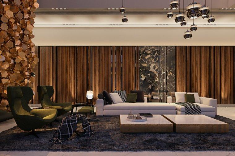 salones modernos distintos disenos sofa blanca destaca ideas - Salones Clasicos Modernos