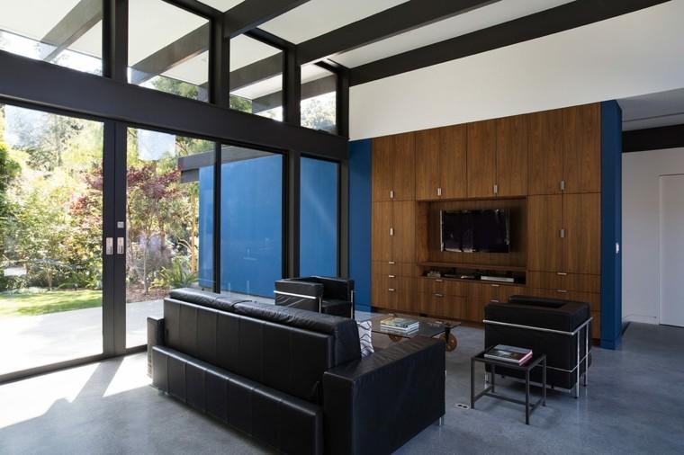 salones modernos distintos disenos sofa cuero ideas