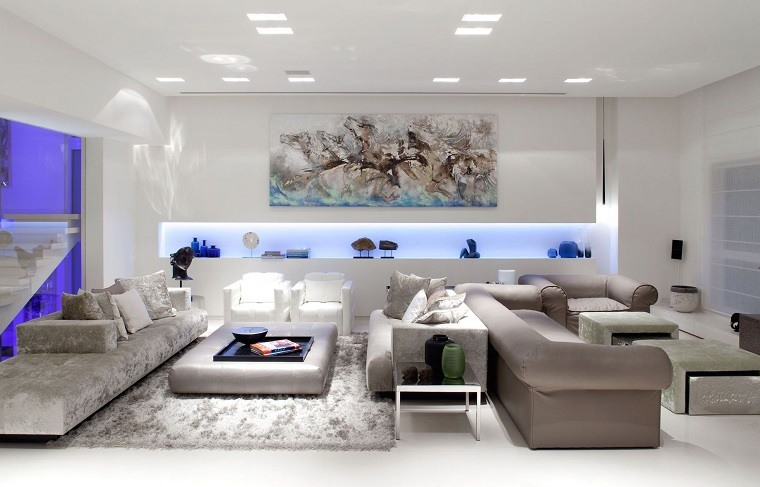 salones iluminacion elementos decorativos ideas