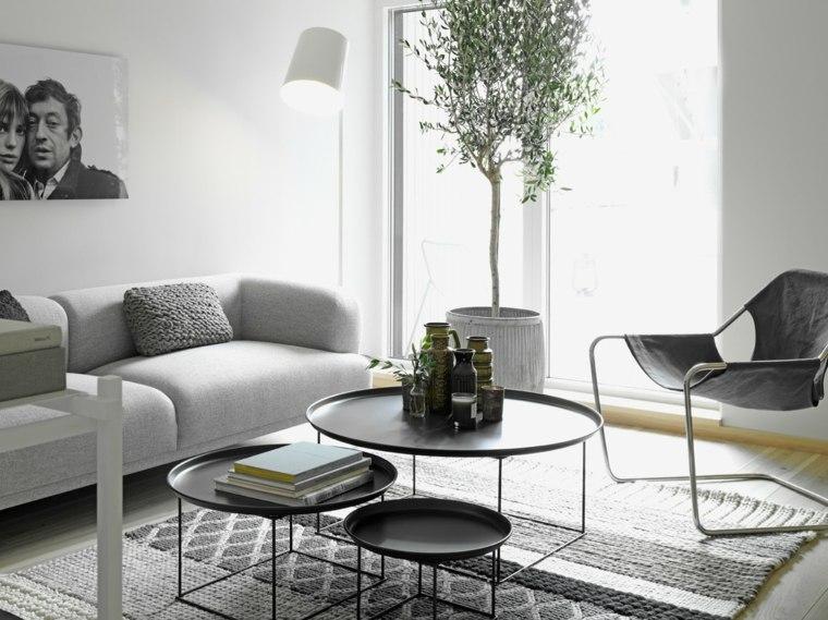 salones modernos distintos disenos blanco negro ideas