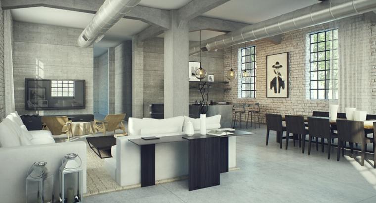 salones modernos diseño industrial