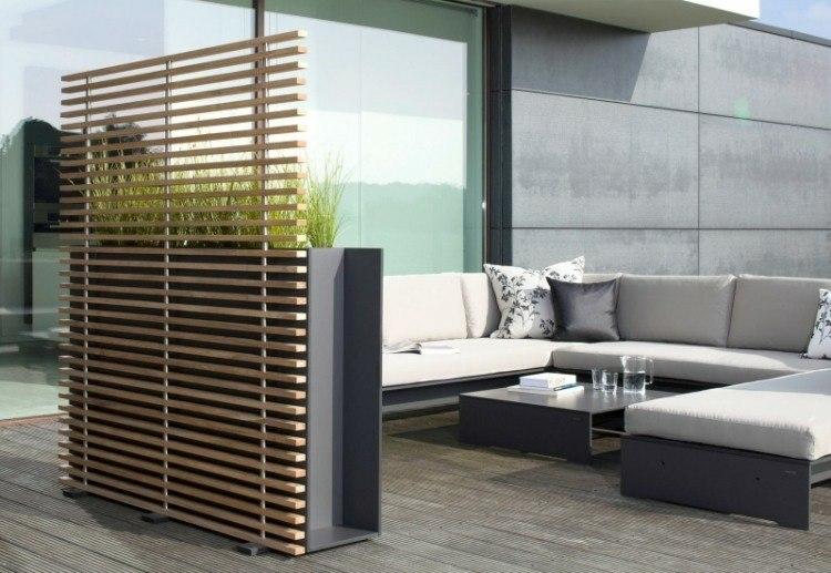 separador maderas listones elegantes moderno