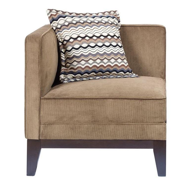 sillón tapizado pana marrón
