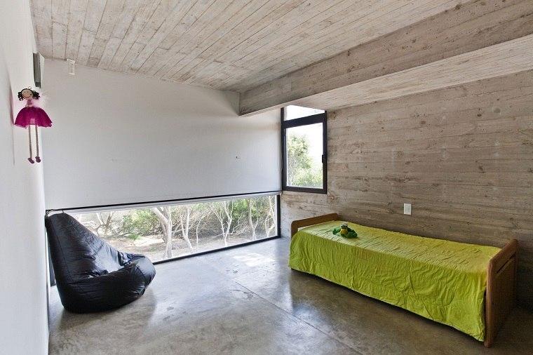 sillón puff habitación minimalista
