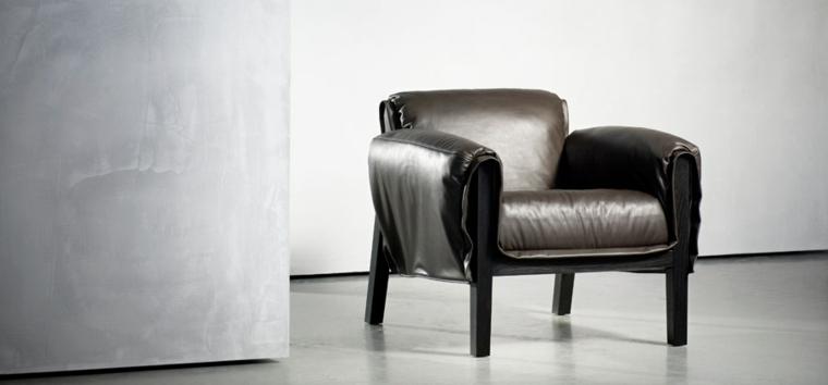 sillón piel diseño moderno