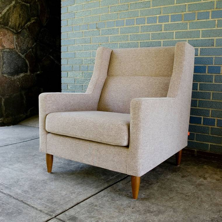 sillón beige original diseño moderno