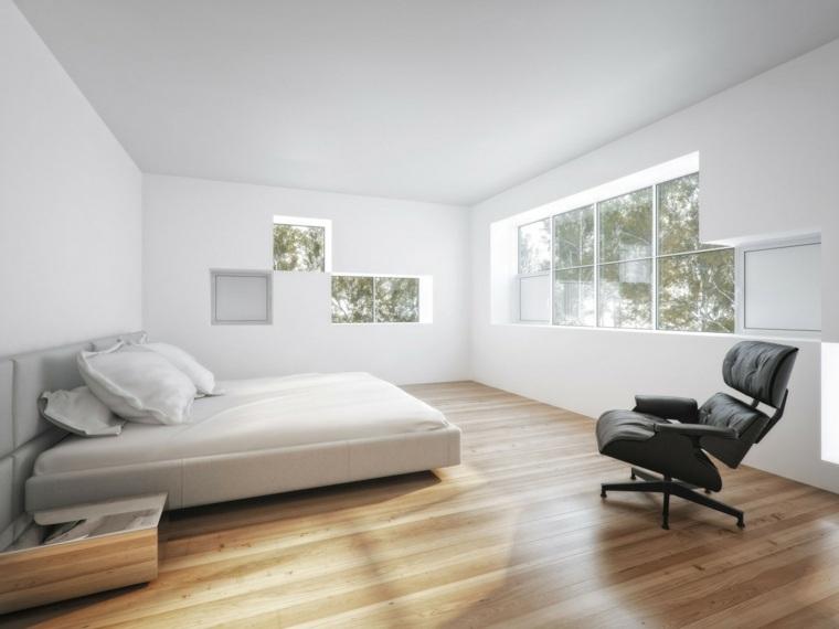 silla negra dormitorio diseno minimalista ideas