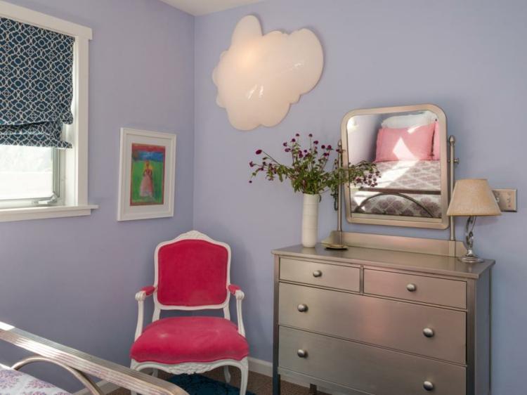 silla rosa estilos ideas cortinas acento