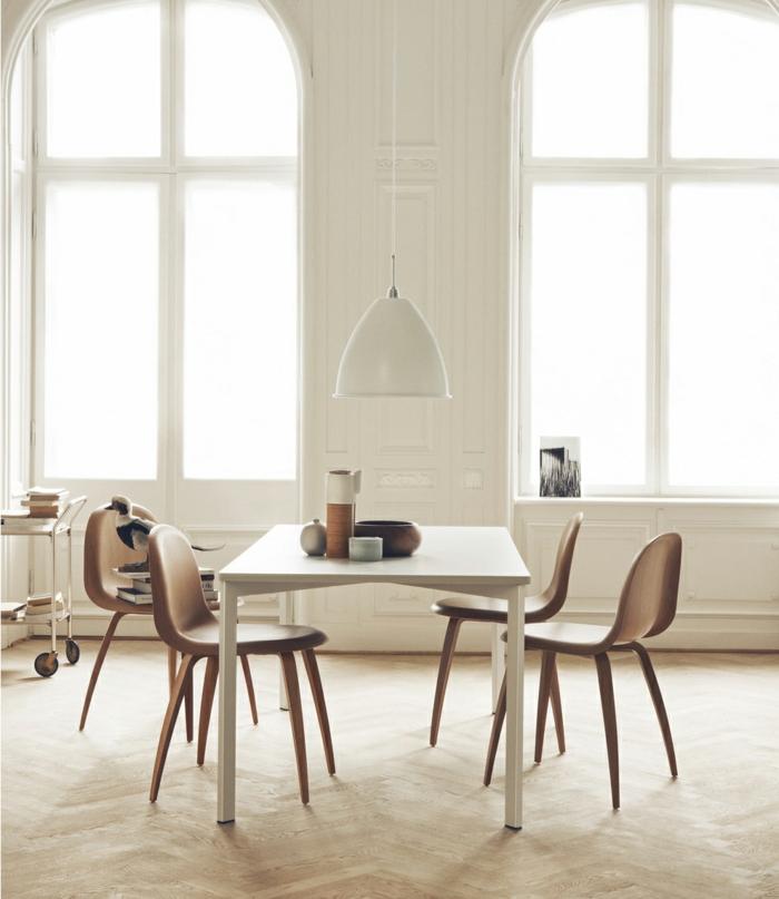 sillas maderas elegantes plegables blancos
