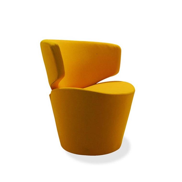 original diseño sillón amarillo