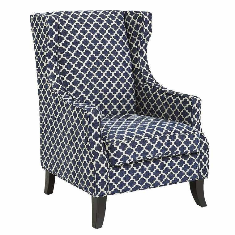 sillón tapizado respaldo alto