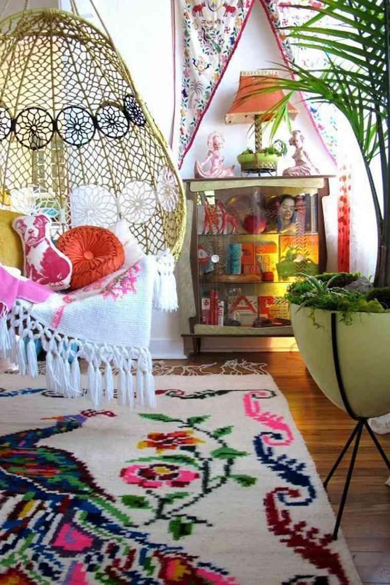 original sala de estar estilo boho chic