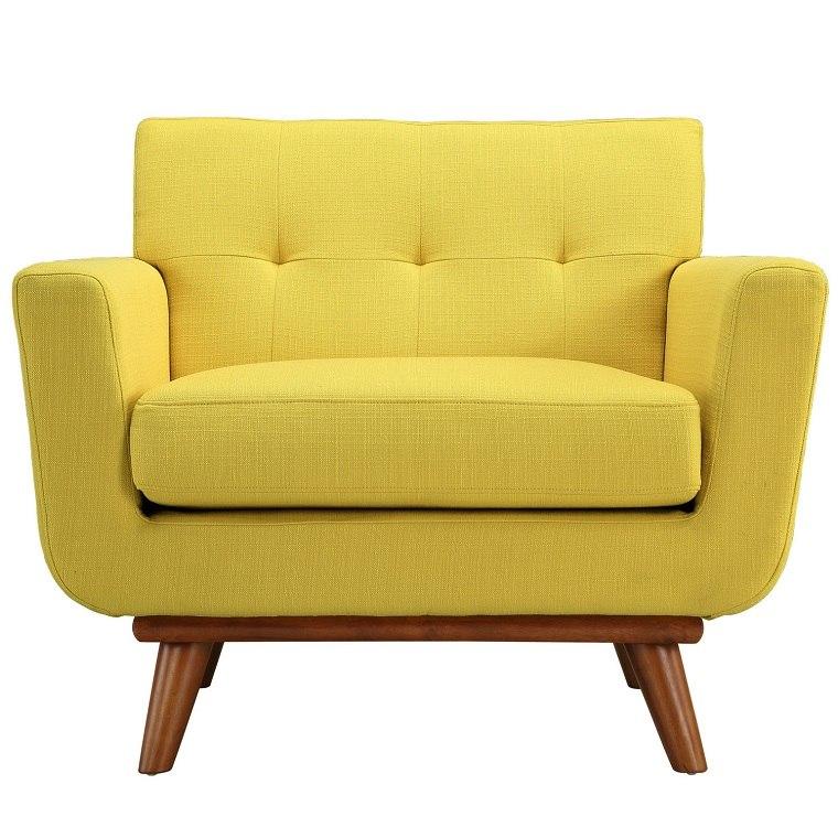 bonito diseo silln amarillo sillones vintage diferentes tapizados