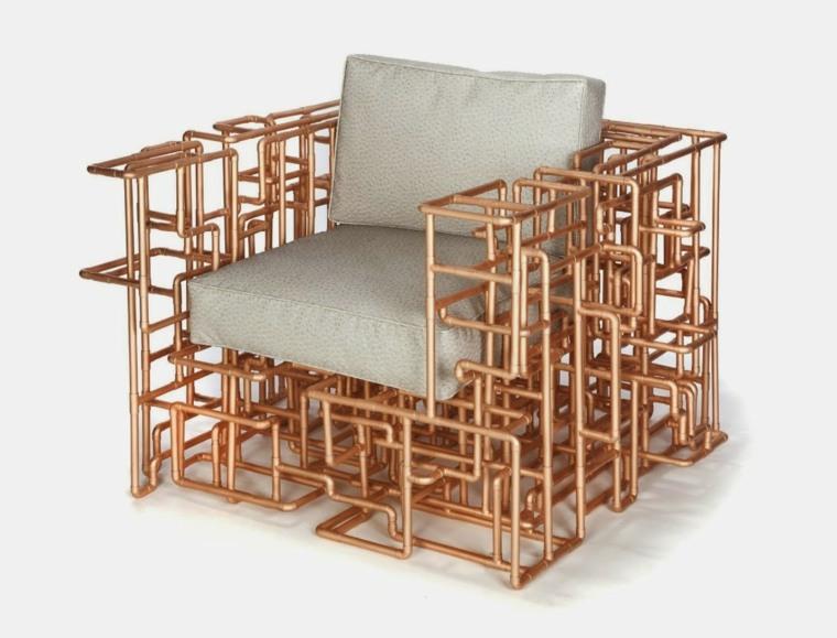 sillon diseño tuberias cobre recicladas