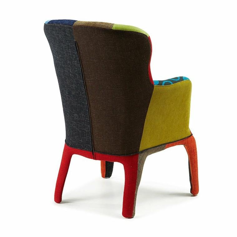 sillon moderno colores originales acolchado