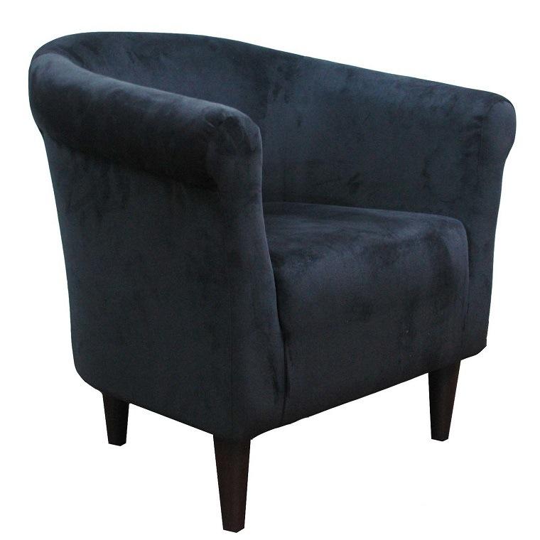 sillón terciopelo azul marino