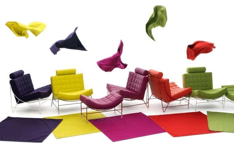 sillones modernos colores vivos