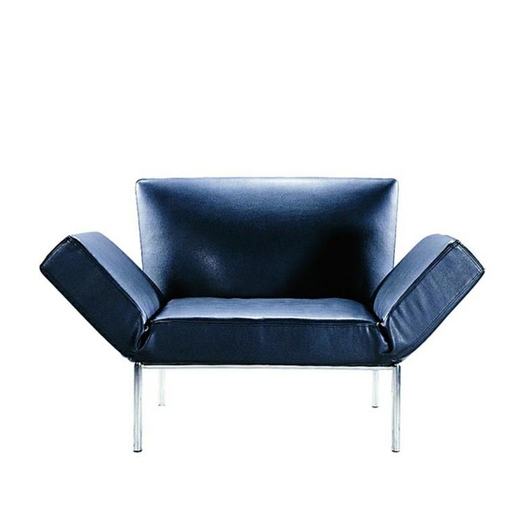 sillón azul original diseño moderno