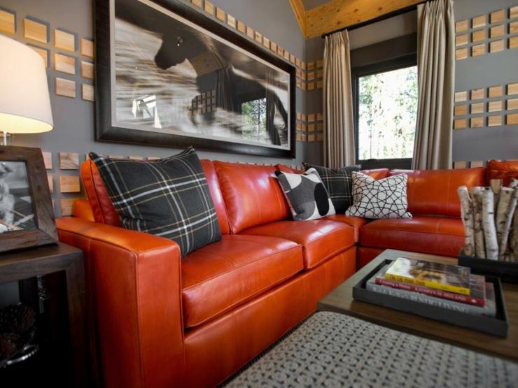 sofa de salon casas decorados pendientes unicos rojos