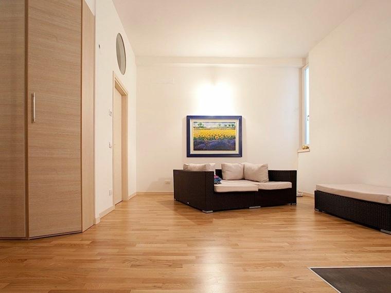 sofa ratan suelo parquet casa ideas