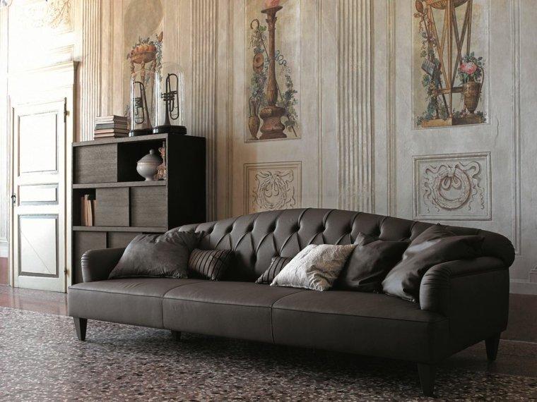 sofa preciosa negra armario madera CIACCI DESIGN ideas